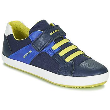 Schuhe Jungen Sneaker Low Geox J GISLI BOY Marine / Gelb