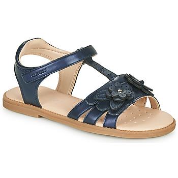 Schuhe Mädchen Sandalen / Sandaletten Geox J SANDAL KARLY GIRL Marine