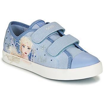 Schuhe Mädchen Sneaker Low Geox JR CIAK GIRL Blau