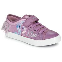 Schuhe Mädchen Sneaker Low Geox JR CIAK GIRL Violett