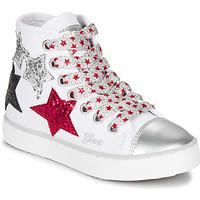 Schuhe Mädchen Sneaker High Geox JR CIAK GIRL Weiss / Rot / Schwarz