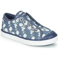 Schuhe Mädchen Sneaker Low Geox JR CIAK GIRL Blau / Weiss
