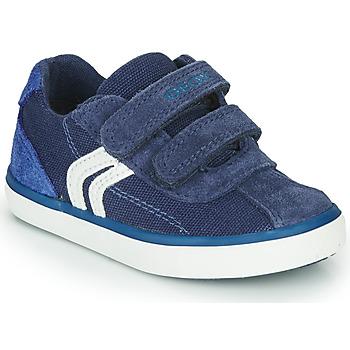 Schuhe Jungen Sneaker Low Geox B KILWI BOY Blau / Weiss