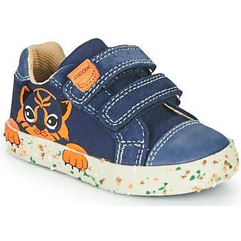 Schuhe Jungen Sneaker Low Geox B KILWI BOY Marine / Braun