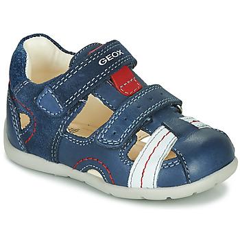 Schuhe Jungen Sandalen / Sandaletten Geox B KAYTAN Blau / Weiss / Rot