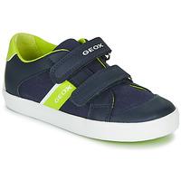 Schuhe Jungen Sneaker Low Geox B GISLI BOY Marine / Grün