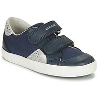 Schuhe Mädchen Sneaker Low Geox B GISLI GIRL Marine / Silbern