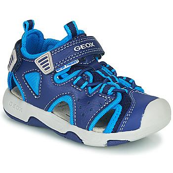 Schuhe Jungen Sportliche Sandalen Geox B SANDAL MULTY BOY Blau