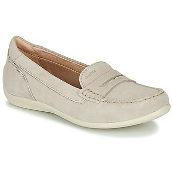 Schuhe Damen Slipper Geox D YUKI Beige