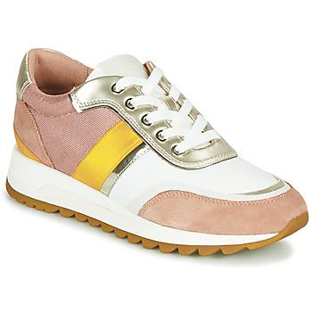 Schuhe Damen Sneaker Low Geox D TABELYA Rose / Weiss / Gelb