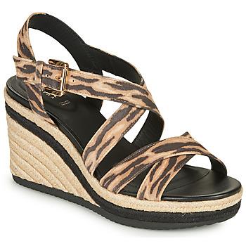 Schuhe Damen Sandalen / Sandaletten Geox D PONZA Braun / Schwarz