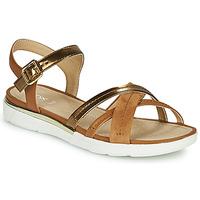 Schuhe Damen Sandalen / Sandaletten Geox D SANDAL HIVER Gold / Braun