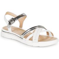 Schuhe Damen Sandalen / Sandaletten Geox D SANDAL HIVER Silbern / Weiss