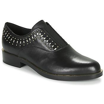 Schuhe Damen Derby-Schuhe Geox D BROGUE S Schwarz / Gold