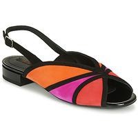 Schuhe Damen Sandalen / Sandaletten Geox D WISTREY SANDALO Schwarz / Rot / Rose
