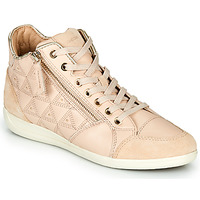 Schuhe Damen Sneaker High Geox D MYRIA Beige