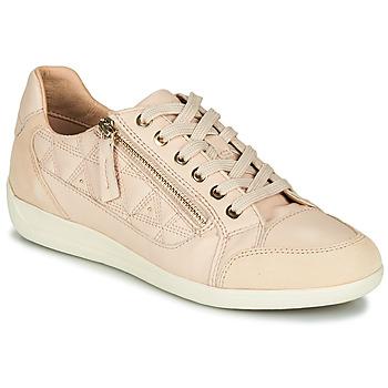 Schuhe Damen Sneaker Low Geox D MYRIA Beige