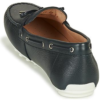 Geox D LEELYAN Blau / Marine - Kostenloser Versand    - Schuhe Sneaker Low Damen 10900