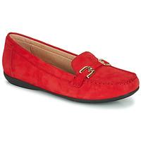 Schuhe Damen Slipper Geox D ANNYTAH MOC Rot / Gold