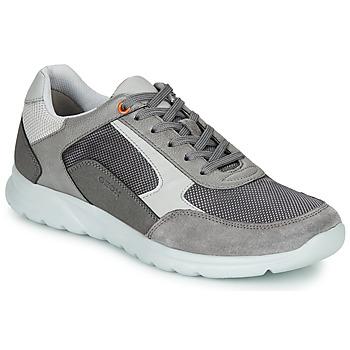 Schuhe Herren Sneaker Low Geox U ERAST Grau / Weiss / Orange