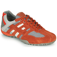 Schuhe Herren Sneaker Low Geox UOMO SNAKE Rot / Grau