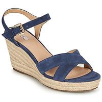 Schuhe Damen Sandalen / Sandaletten Geox D SOLEIL Blau