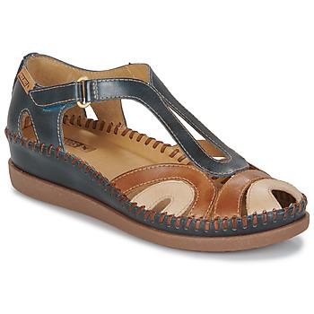 Schuhe Damen Sandalen / Sandaletten Pikolinos CADAQUES W8K Blau / Camel