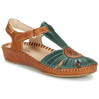 Schuhe Damen Sandalen / Sandaletten Pikolinos P. VALLARTA 655 Camel / Grün