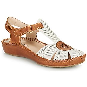 Schuhe Damen Sandalen / Sandaletten Pikolinos P. VALLARTA 655 Weiss / Camel