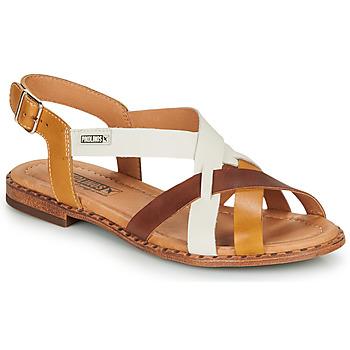 Schuhe Damen Sandalen / Sandaletten Pikolinos ALGAR W0X Cognac / Weiss / Gelb