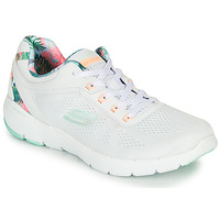 Schuhe Damen Fitness / Training Skechers FLEX APPEAL 3.0 Weiss