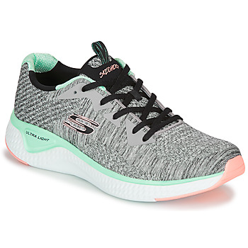 Schuhe Damen Fitness / Training Skechers SOLAR FUSE BRISK ESCAPE Grau / Grün / Rose