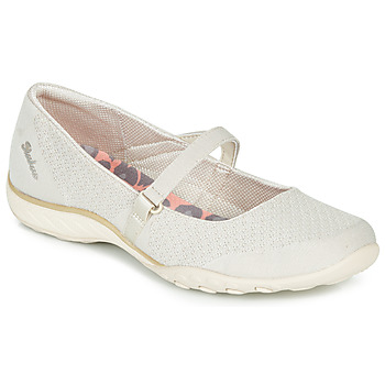 Schuhe Damen Ballerinas Skechers BREATHE-EASY Beige