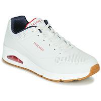 Schuhe Herren Sneaker Low Skechers UNO STAND ON AIR Weiss