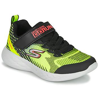 Schuhe Jungen Multisportschuhe Skechers GO RUN 600 BAXTUX Schwarz / Gelb