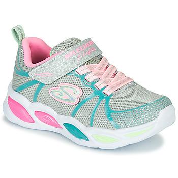 Schuhe Mädchen Multisportschuhe Skechers SHIMMER BEAMS Silbern / Rose / Blau
