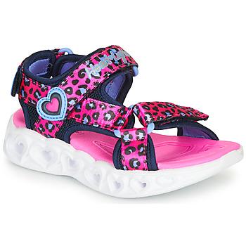 Schuhe Mädchen Sportliche Sandalen Skechers HEART LIGHTS Rose / Schwarz