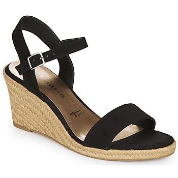 Schuhe Damen Sandalen / Sandaletten Tamaris LIVIAN Schwarz