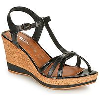 Schuhe Damen Sandalen / Sandaletten Tamaris VESILA Schwarz