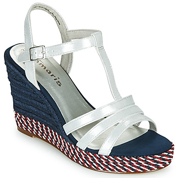 Schuhe Damen Sandalen / Sandaletten Tamaris CYNARA Weiss / Marine / Rot