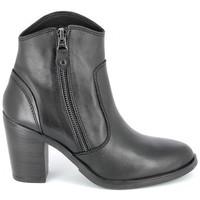 Schuhe Damen Low Boots Porronet Boots Acap Noir Schwarz