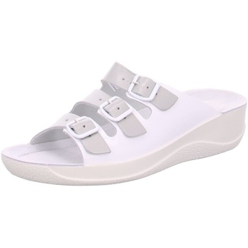 Schuhe Damen Pantoletten / Clogs Beck Pantoletten Hausschuh 7056-66 weiß