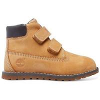 Schuhe Kinder Boots Timberland pokey pine hook-et-loop Wheat-jaune