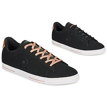 Schuhe Damen Sneaker Low Le Coq Sportif AGATE METALLIC Schwarz / Goldfarben