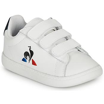 Schuhe Kinder Sneaker Low Le Coq Sportif COURTSET INF Weiss