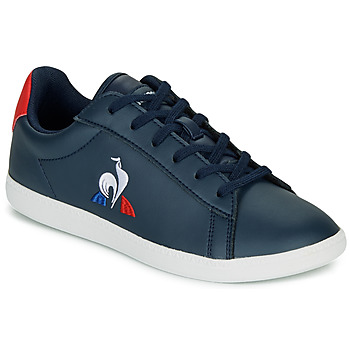 Schuhe Kinder Sneaker Low Le Coq Sportif COURTSET GS Marine / Rot