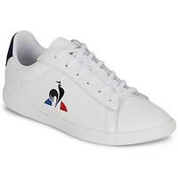 Schuhe Kinder Sneaker Low Le Coq Sportif COURTSET GS Weiss