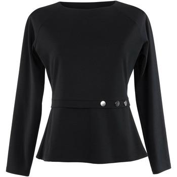 Kleidung Damen Tops / Blusen Lisca Estelle  langärmeliges Top schwarz Perlschwarz