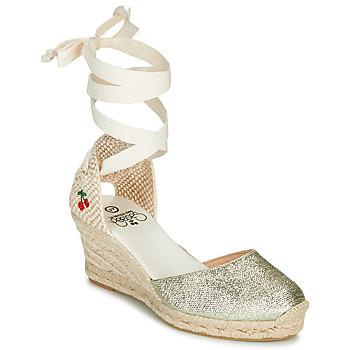 Schuhe Damen Sandalen / Sandaletten Le Temps des Cerises POLY Gold