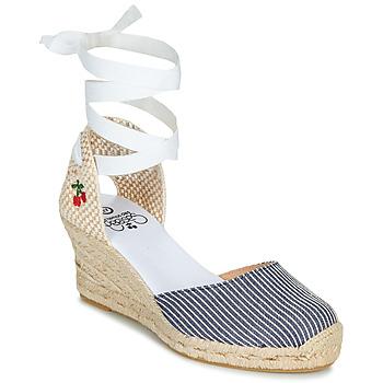 Schuhe Damen Sandalen / Sandaletten Le Temps des Cerises POLY Blau / Weiss